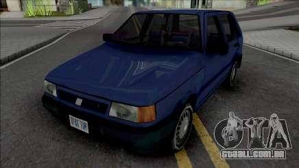 Fiat Uno 1995 Blue para GTA San Andreas