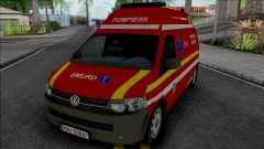 Volkswagen Transporter T5 Fire Brigade Ambulance para GTA San Andreas