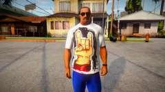 Rock Hand White T-Shirt para GTA San Andreas