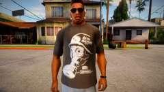 T-shirt with gas mask para GTA San Andreas