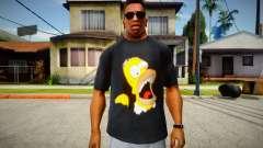 Homer Simpson T-Shirt para GTA San Andreas