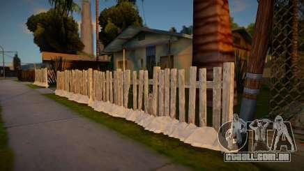 Winter Fence Wood 2 para GTA San Andreas