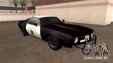 Pontiac Firebird 1970 California Highway Patrol para GTA San Andreas