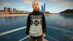 Homem russo de suéter