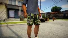 Camouflage shorts para GTA San Andreas
