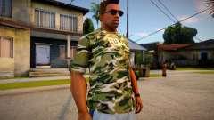 Camiseta camuflada para GTA San Andreas