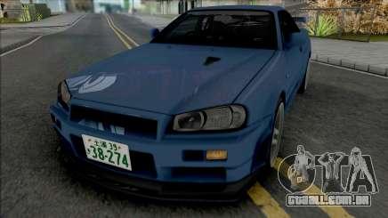 Nissan Skyline GT-R (BNR34) Initial D 4th Stage para GTA San Andreas