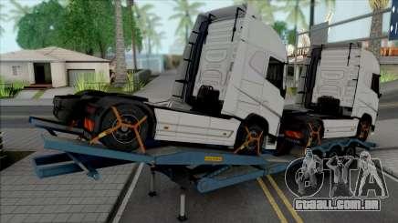 Transporter Cargo Truck Trailer para GTA San Andreas