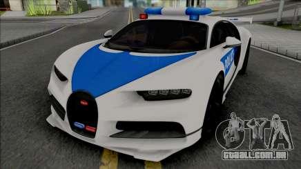Bugatti Chiron Police para GTA San Andreas