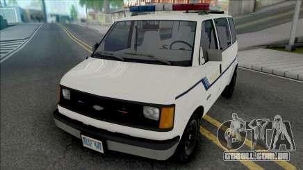 Chevy Astro 1988 Fort Carson Police Department para GTA San Andreas