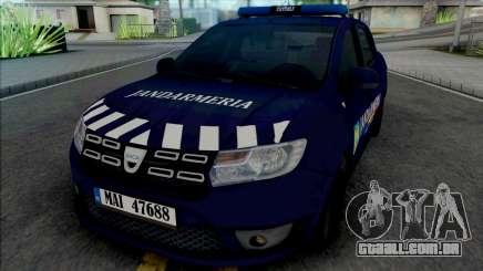 Dacia Logan 2018 Jandarmerie para GTA San Andreas