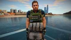 Chris Redfield from Resident Evil 6 Skin para GTA San Andreas