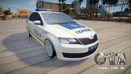 Skoda Rapid - Polícia de Patrulha da Ucrânia para GTA San Andreas