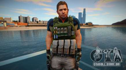 Chris Redfield from Resident Evil 6 Skin para GTA San Andreas
