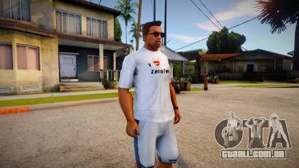 I Love Zerotwo Shirt For CJ Original para GTA San Andreas