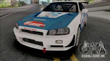 Nissan Skyline GT-R R34 Itasha [Fixed] para GTA San Andreas