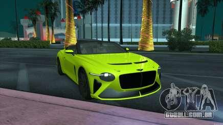 Bentley Mulliner Bacalar para GTA San Andreas