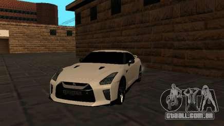 Nissan GT-R R35 White Body para GTA San Andreas