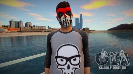 Personagem em maquiagem de GTA Online para GTA San Andreas
