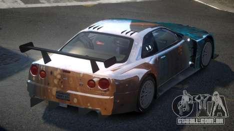 Nissan Skyline R34 US S10 para GTA 4