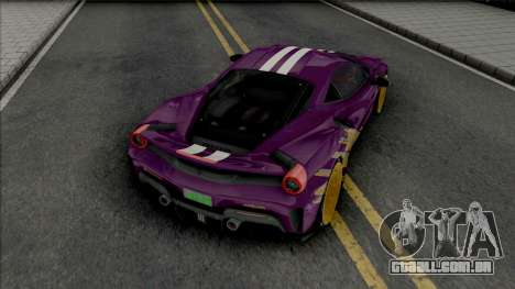 Ferrari 488 Pista para GTA San Andreas