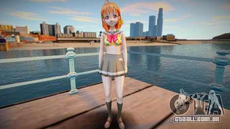 Chika Takami - Love Live Sunshine - shirtless v1 para GTA San Andreas