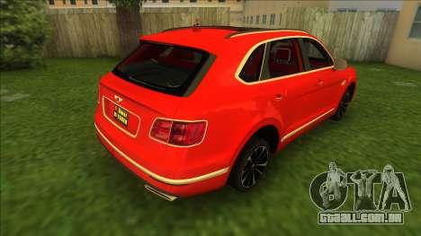 Bentley Bentayga 2021 para GTA Vice City