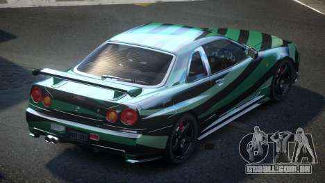 Nissan Skyline R34 PSI-U S3 para GTA 4