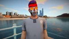 Personagem de GTA Online em maquiagem e óculos para GTA San Andreas