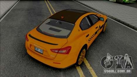 Maserati Ghibli III Taxi (Carbon) para GTA San Andreas
