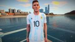 Lionel Messi Argentina T-Shirt 2021 para GTA San Andreas