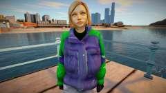 Garota loira de jaqueta para GTA San Andreas