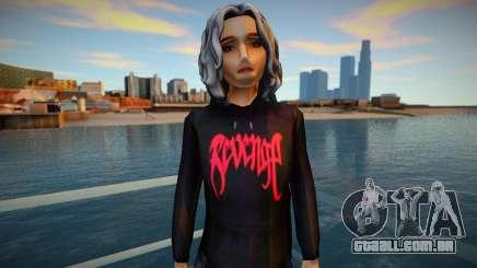Garota de capuz por Vingança para GTA San Andreas