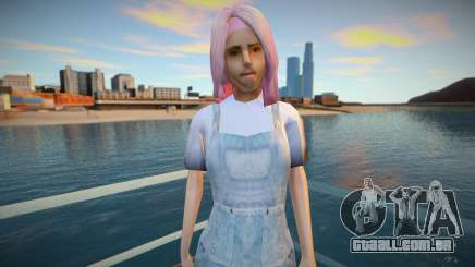 Garota de cabelo rosa para GTA San Andreas