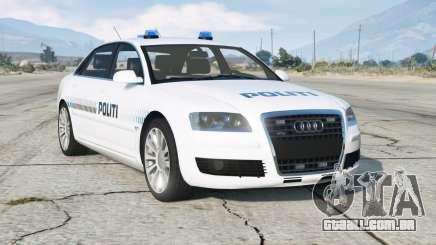 Audi A8 L 6.0 quattro (D3) 2005〡Danish Police para GTA 5
