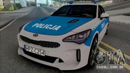 Kia Stinger GT Policja WRD KSP para GTA San Andreas