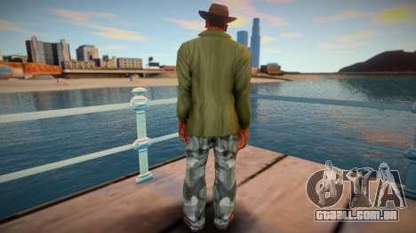 Cj With Camo Pants and Cowboy Hat (ped Model) para GTA San Andreas