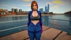 KOF Soldier Girl - Blue Brown Hair 6 para GTA San Andreas