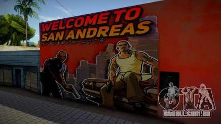 Mural - Welcome to San Andreas para GTA San Andreas