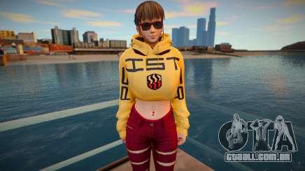 DOA Hitomi Fashion Casual DLC Los Santos Tuner 2 para GTA San Andreas