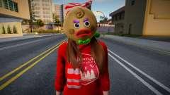 Garota com roupas de Ano Novo 6 para GTA San Andreas