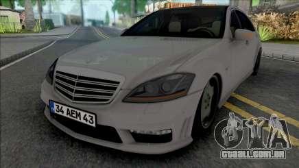 Mercedes-Benz S65 AMG W221 (34 AEM 43) para GTA San Andreas