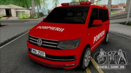 Volkswagen Transporter T6 Pompierii para GTA San Andreas