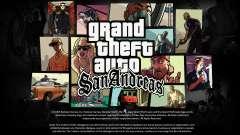 HD Loadscreens and Menu (new Cursor) para GTA San Andreas